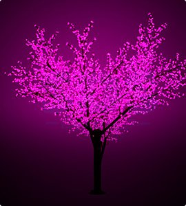 Светодиодные деревья Сакура, дерево Клен, дерево Яблоня