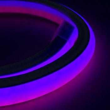 Гибкий Neon Flex шнур светодиодный, холодный неон, световой шнур